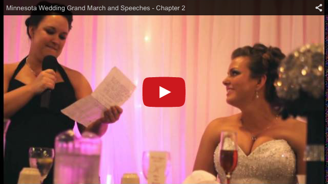 Minnesota Wedding Grand March and Speeches Video Sample