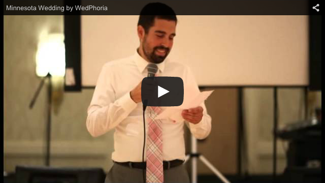 Minnesota Wedding Videography Speech Sample