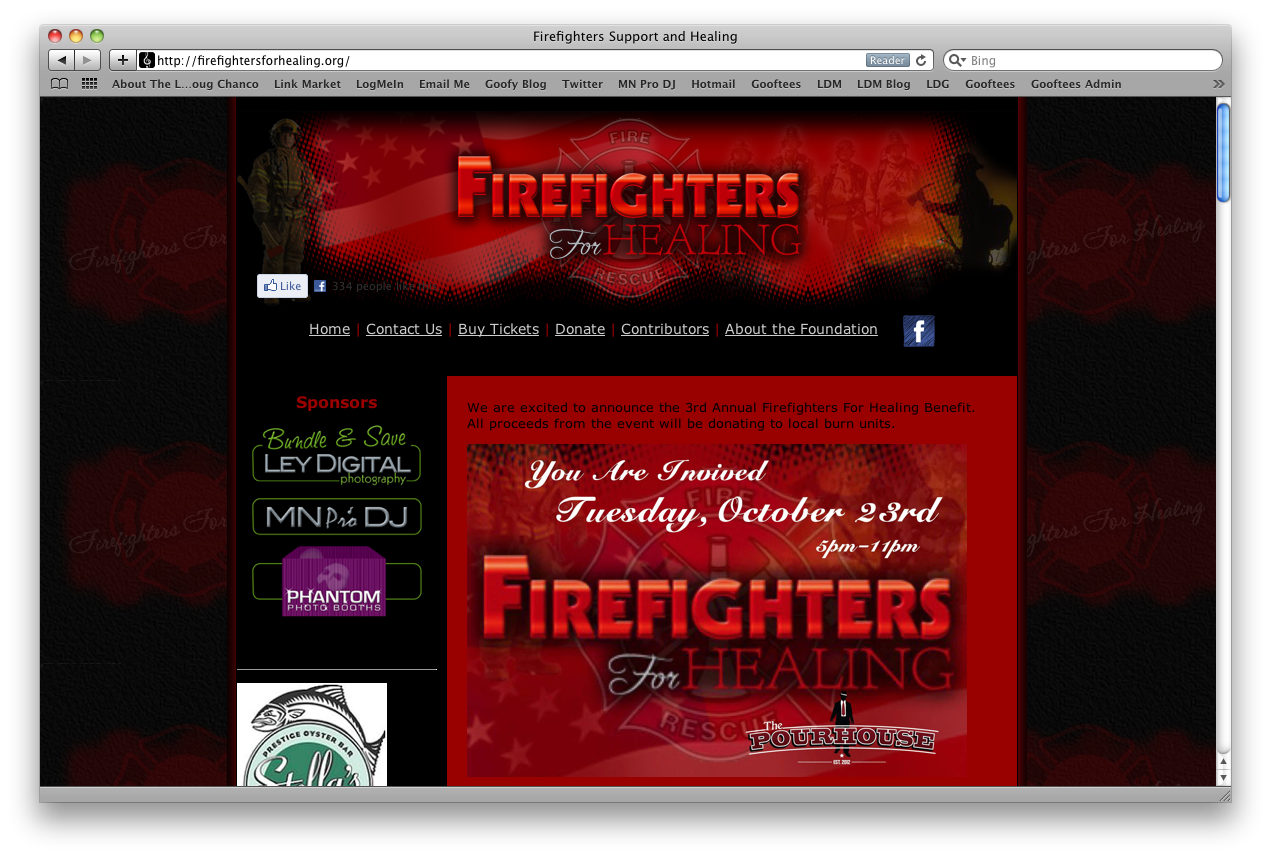 Fire Fighters For Healing Web Design