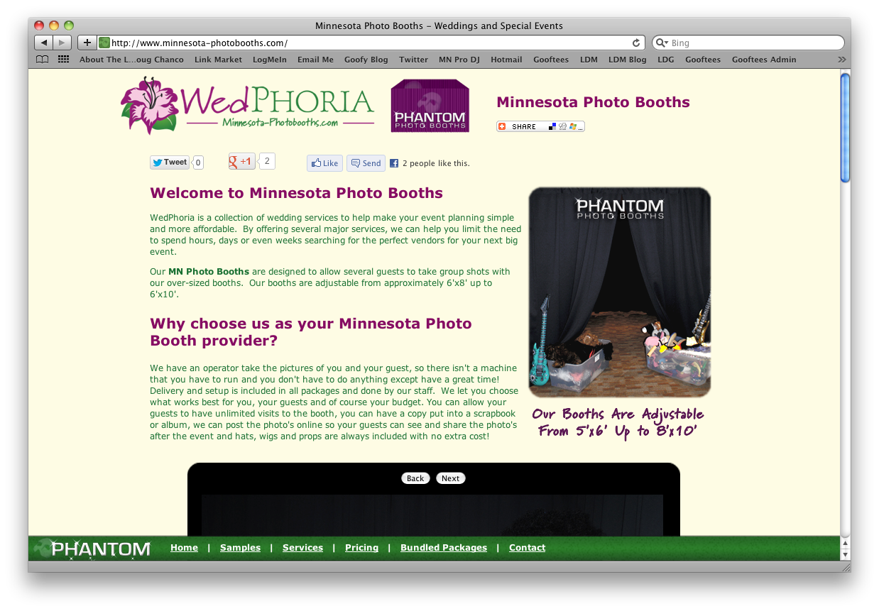 Mn Photo Booths Web Design