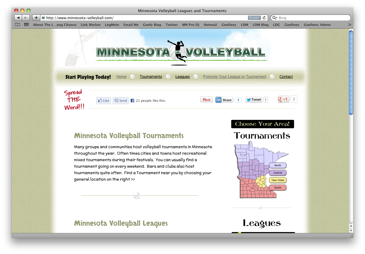Mn Volleyball Web Design