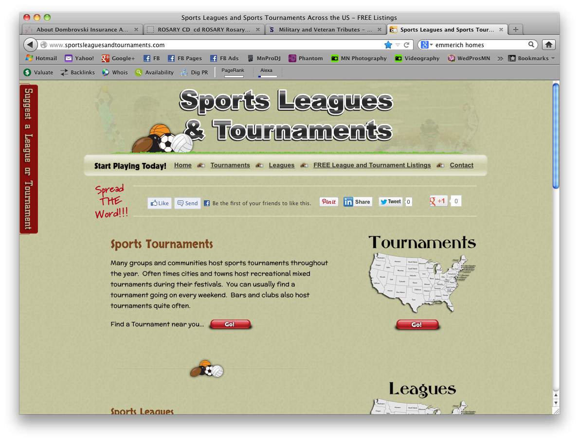 Sports Leagues and Tournaments